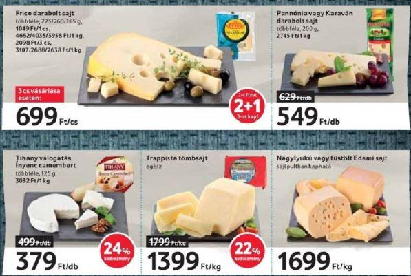 Tesco laktózmentes sajtok
