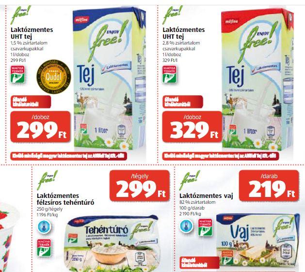 laktózmentes tejtermék ALDI