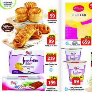 Laktózmentes termékek akciói 2017 május