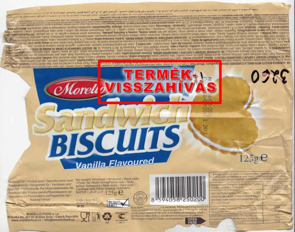 morello keksz termékvisszahívás